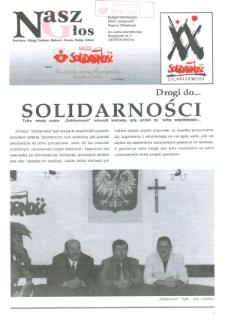 """Nasz Głos. Biuletyn Informacyjny NSZZ """"Solidarność"""" Regionu Elbląskiego, 2000, nr 8"""