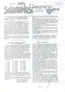 """Biuletyn Regionu Elbląskiego """"Solidarnosć"""", 1985, nr 10 [wydanie powielaczowe]"""