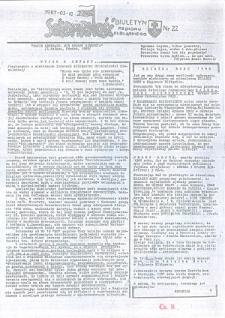 """Biuletyn Regionu Elbląskiego """"Solidarnosć"""", 1987, nr 22 [wydanie powielaczowe]"""