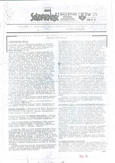 """Biuletyn Regionu Elbląskiego """"Solidarnosć"""", 1988, nr 29 [wydanie powielaczowe]"""