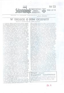 """Biuletyn Regionu Elbląskiego """"Solidarnosć"""", 1988, nr 33 [wydanie powielaczowe]"""
