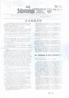 """Biuletyn Regionu Elbląskiego """"Solidarnosć"""", 1988, nr 34 [wydanie powielaczowe]"""