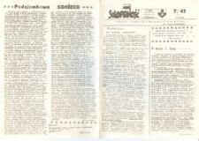 """""""Solidarność"""" Pismo społeczno-polityczne Elbląg, 1989, nr 7 (47) [wydanie powielaczowe]"""
