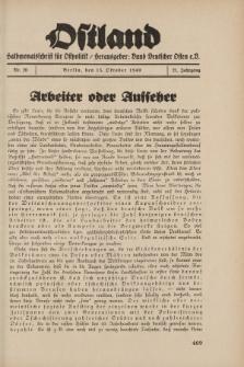 Ostland : Halbmonatsschrift für Ostpolitik, Jg. 21, 1940, Nr 20.