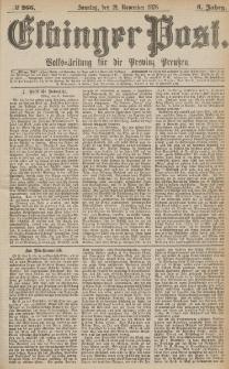 Elbinger Post, Nr.266 Sonntag 12 November 1876, 3 Jh