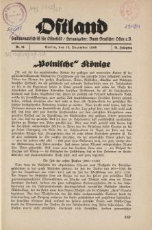 Ostland : Halbmonatsschrift für Ostpolitik, Jg. 21, 1940, Nr 24.