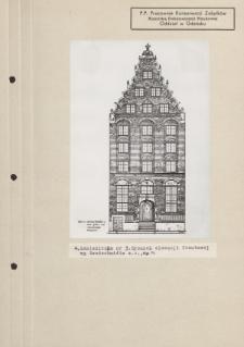 Kamieniczka nr 3. Rysunek elewacji frontowej