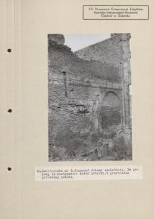 Kamieniczka nr 3. Fragment ściany zachodniej.