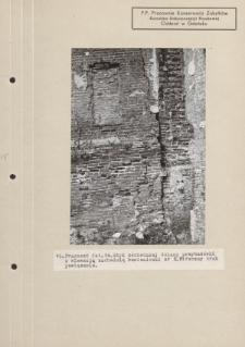 Fragment fot. 14. Styk zachodniej ściany przybudówki z elewacją zachodnią kamieniczki nr 3