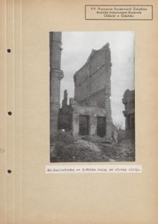 Kamieniczka nr 2. Widok ruiny od strony ulicy