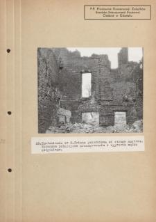 Kamieniczka nr 2. Ściana południowa od strony wnętrza