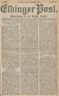 Elbinger Post, Nr.271 Sonnabend 18 November 1876, 3 Jh