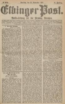 Elbinger Post, Nr.272 Sonntag 19 November 1876, 3 Jh