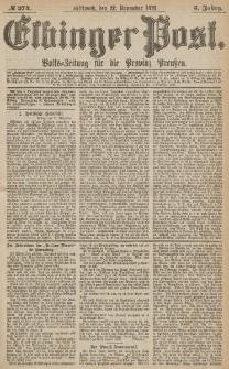 Elbinger Post, Nr.274 Mittwoch 22 November 1876, 3 Jh