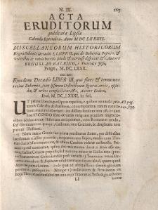 Acta Eruditorum […] Calendis Septembris, Anno M DC LXXXII, N.IX