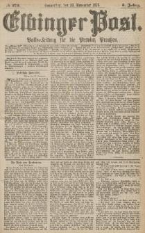 Elbinger Post, Nr.275 Donnerstag 23 November 1876, 3 Jh