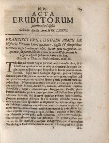 Acta Eruditorum […] Calendis Aprilis, Anno M DC LXXXVII, N.IV