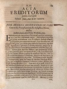 Acta Eruditorum […] Calendis Junii, Anno M DC LXXXVII, N.VI