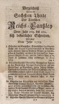 Der Teutschen Reichs-Cantzley Sechster Theil