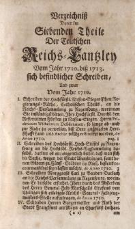 Der Teutschen Reichs-Cantzley Siebender Theil