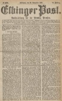 Elbinger Post, Nr.280 Mittwoch 29 November 1876, 3 Jh