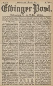 Elbinger Post, Nr.287 Donnerstag 7 Dezember 1876, 3 Jh