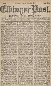 Elbinger Post, Nr.293 Donnerstag 14 Dezember 1876, 3 Jh