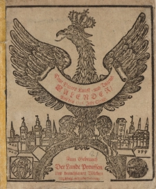 Neuer und Alter Kunst- und Tugend- Calender auff das 1716. Jahr Chirsti. Worinnen gantz gewisse dinge, von dem Lauff der Sonnen/Monds, und dessen Vierteln vorher gesagt; auch ungewisse von der zukünfftigen Witter- und Veränderung der Lufft, [...]