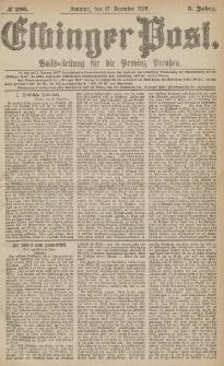 Elbinger Post, Nr.296 Sonntag 17 Dezember 1876, 3 Jh