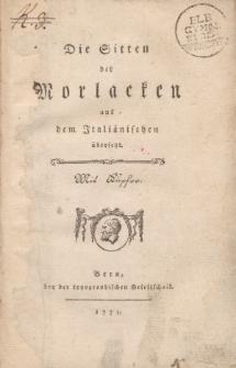 Die Sitten der Morlacken aus dem Italiänischen übersetzt