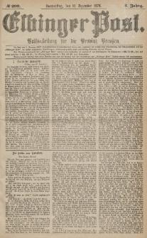 Elbinger Post, Nr.299 Donnerstag 21 Dezember 1876, 3 Jh