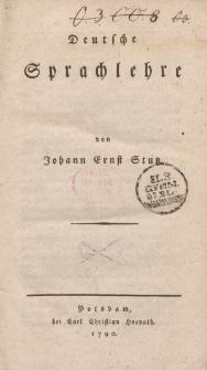 Deutsche Sprachlehre von Johann Ernst Stutz