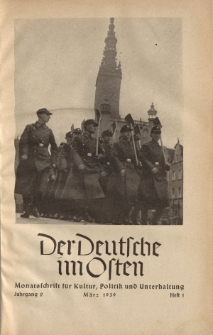 Der Deutsche im Osten. Monatschrift für Kultur, Politik und Unterhaltung, Jahrgang 2, Heft 1