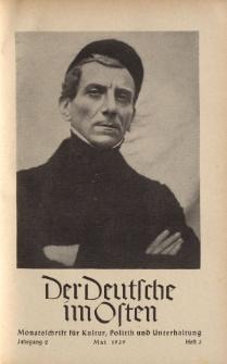 Der Deutsche im Osten. Monatschrift für Kultur, Politik und Unterhaltung, Jahrgang 2, Heft 3