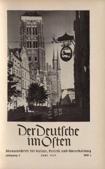 Der Deutsche im Osten. Monatschrift für Kultur, Politik und Unterhaltung, Jahrgang 2, Heft 4