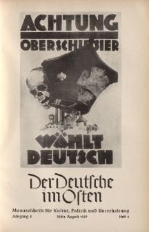 Der Deutsche im Osten. Monatschrift für Kultur, Politik und Unterhaltung, Jahrgang 2, Heft 6