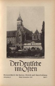 Der Deutsche im Osten. Monatschrift für Kultur, Politik und Unterhaltung, Jahrgang 2, Heft 9