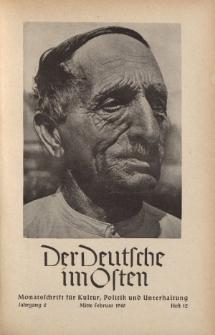 Der Deutsche im Osten. Monatschrift für Kultur, Politik und Unterhaltung, Jahrgang 2, Heft 12