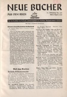 Neue Bücher aus dem Reich, 14. Jahrgang, 1939, Nr.3/4