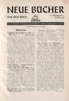 Neue Bücher aus dem Reich, 14. Jahrgang, 1939, Nr.5