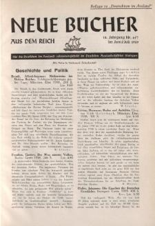 Neue Bücher aus dem Reich, 14. Jahrgang, 1939, Nr.6/7