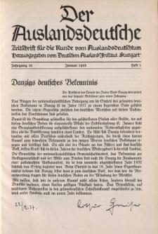 Der Auslandsdeutsche, 21. Jahrgang, 1938, H.1