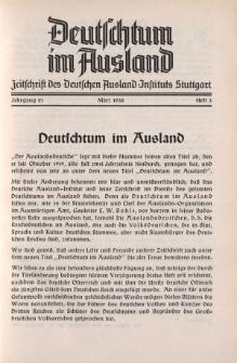 Deutschtum im Ausland, 21. Jahrgang, 1938, H.3