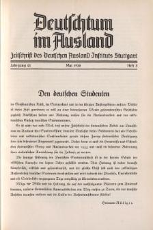 Deutschtum im Ausland, 21. Jahrgang, 1938, H.5