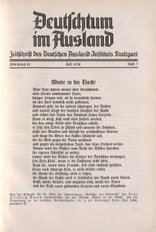 Deutschtum im Ausland, 21. Jahrgang, 1938, H.7