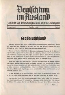 Deutschtum im Ausland, 21. Jahrgang, 1938, H.10