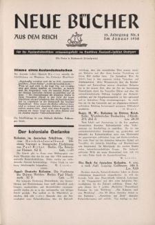 Neue Bücher aus dem Reich, 13. Jahrgang, 1938, Nr.1