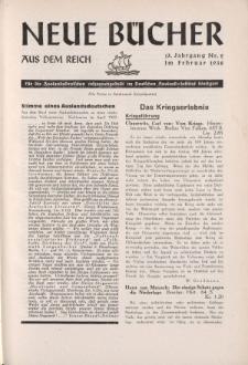 Neue Bücher aus dem Reich, 13. Jahrgang, 1938, Nr.2