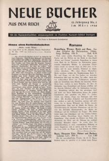 Neue Bücher aus dem Reich, 13. Jahrgang, 1938, Nr.3