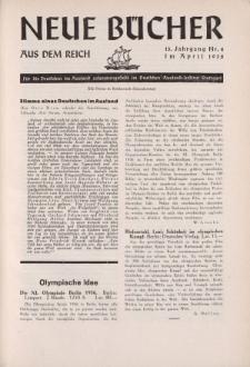 Neue Bücher aus dem Reich, 13. Jahrgang, 1938, Nr.4
